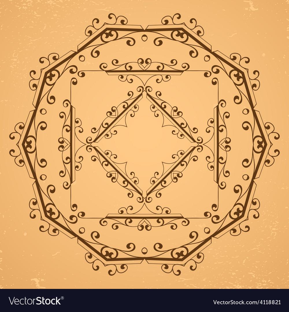 Decorative floral elements vector image