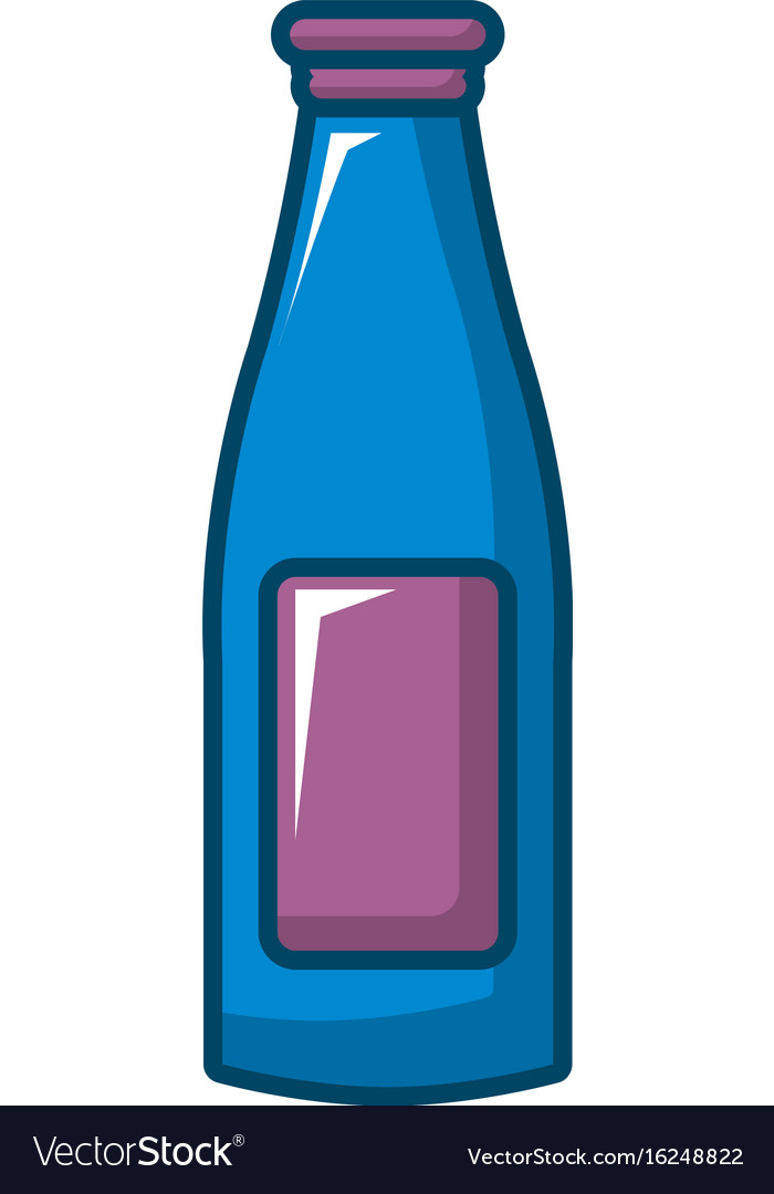 Bottle cream icon cartoon style vector image