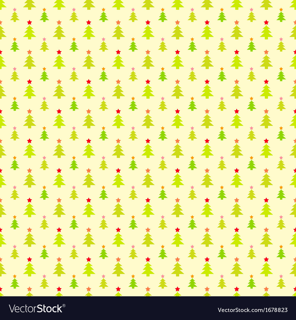 Abstract Christmas tree pattern wallpaper vector image