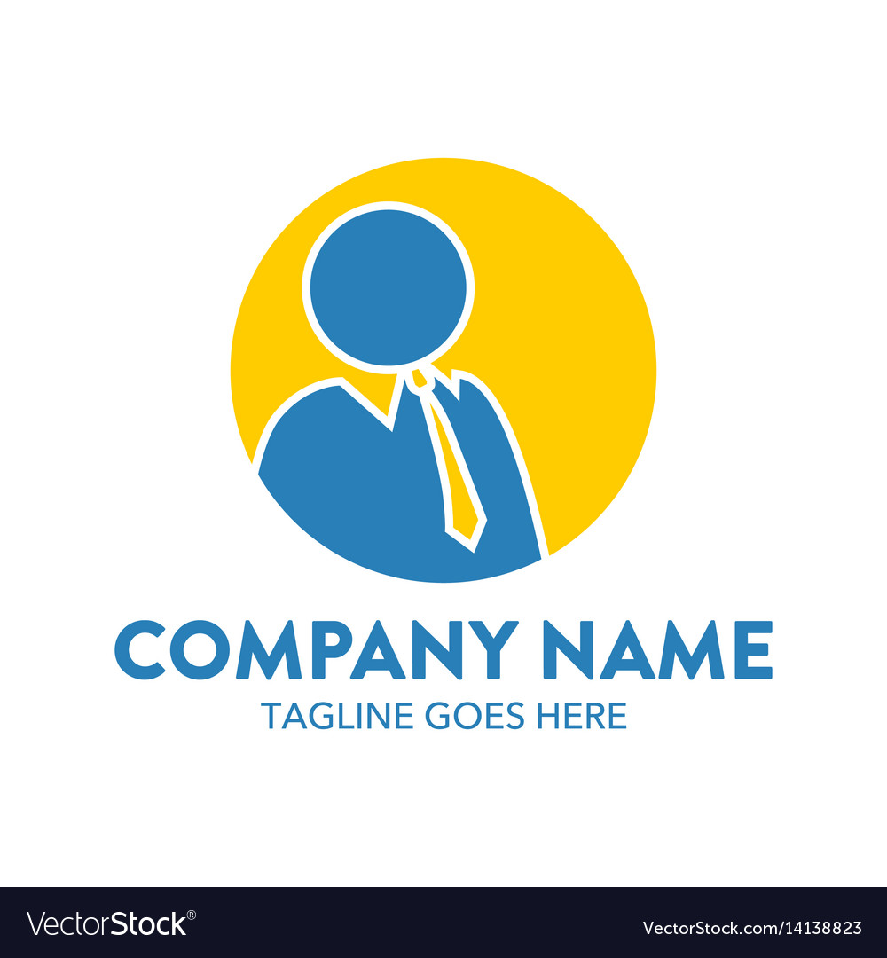 Businessman logo-2 vector image
