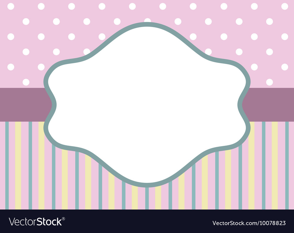 Stripes and polka dot on pink vector image