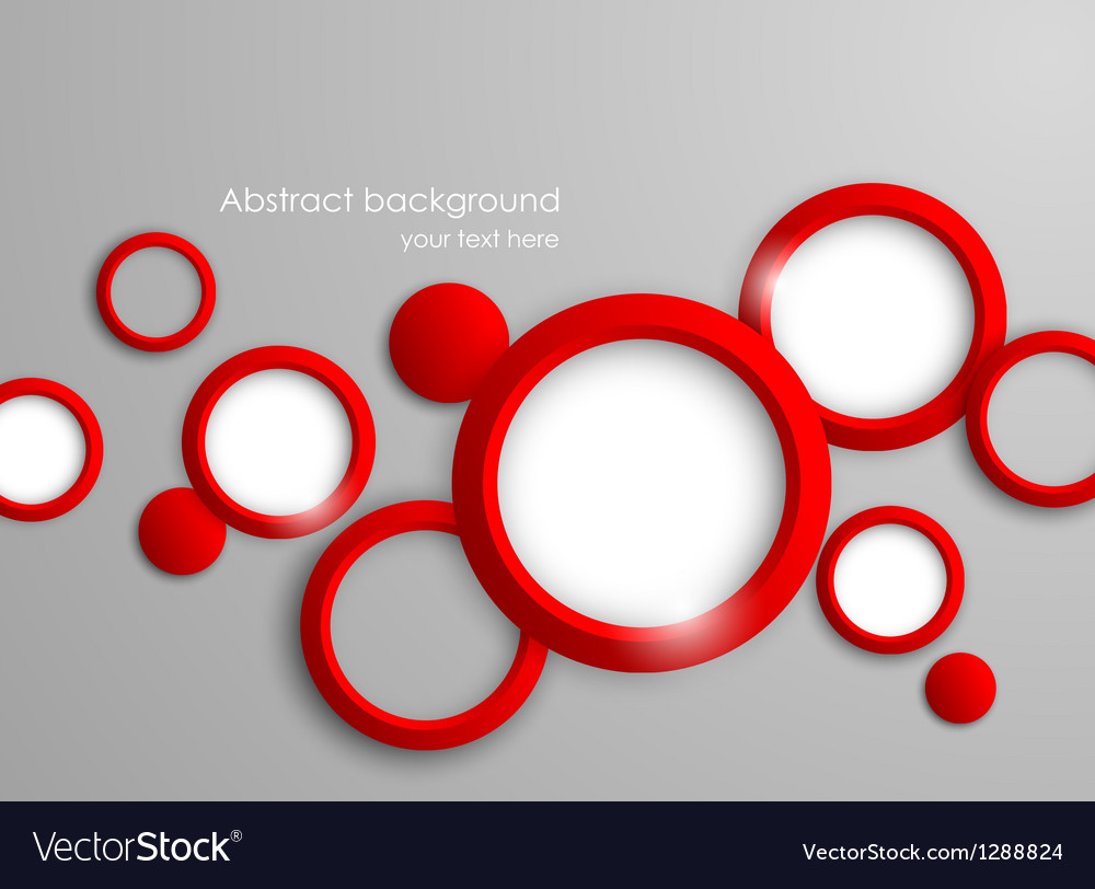 Abstract background with red circles vector image