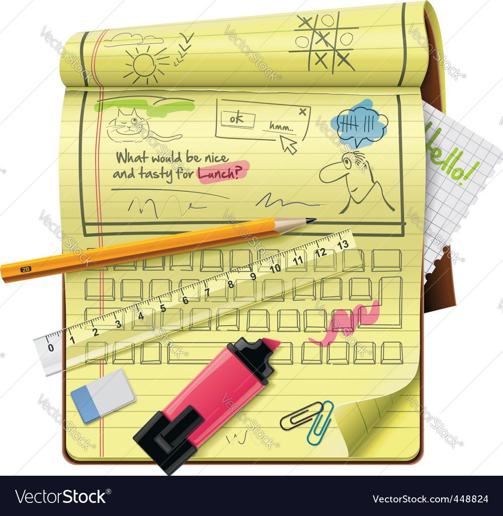 Vector notepad xxl icon vector image