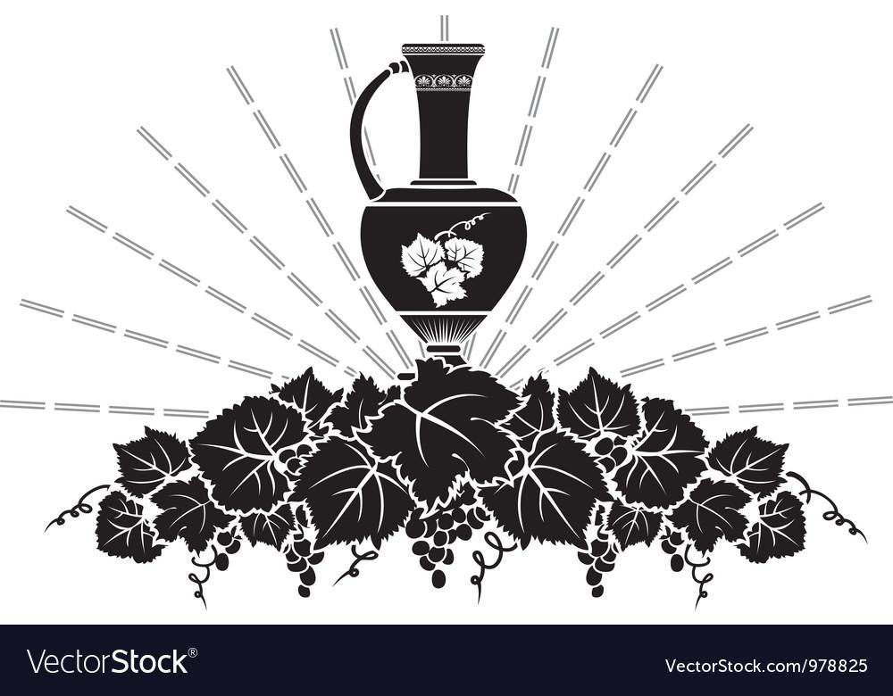 Vine symbol vector image