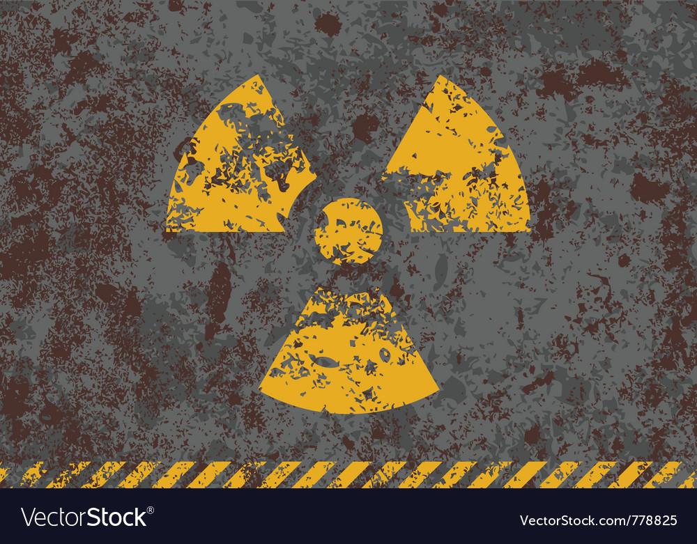 Grunge of radiation sign vector image