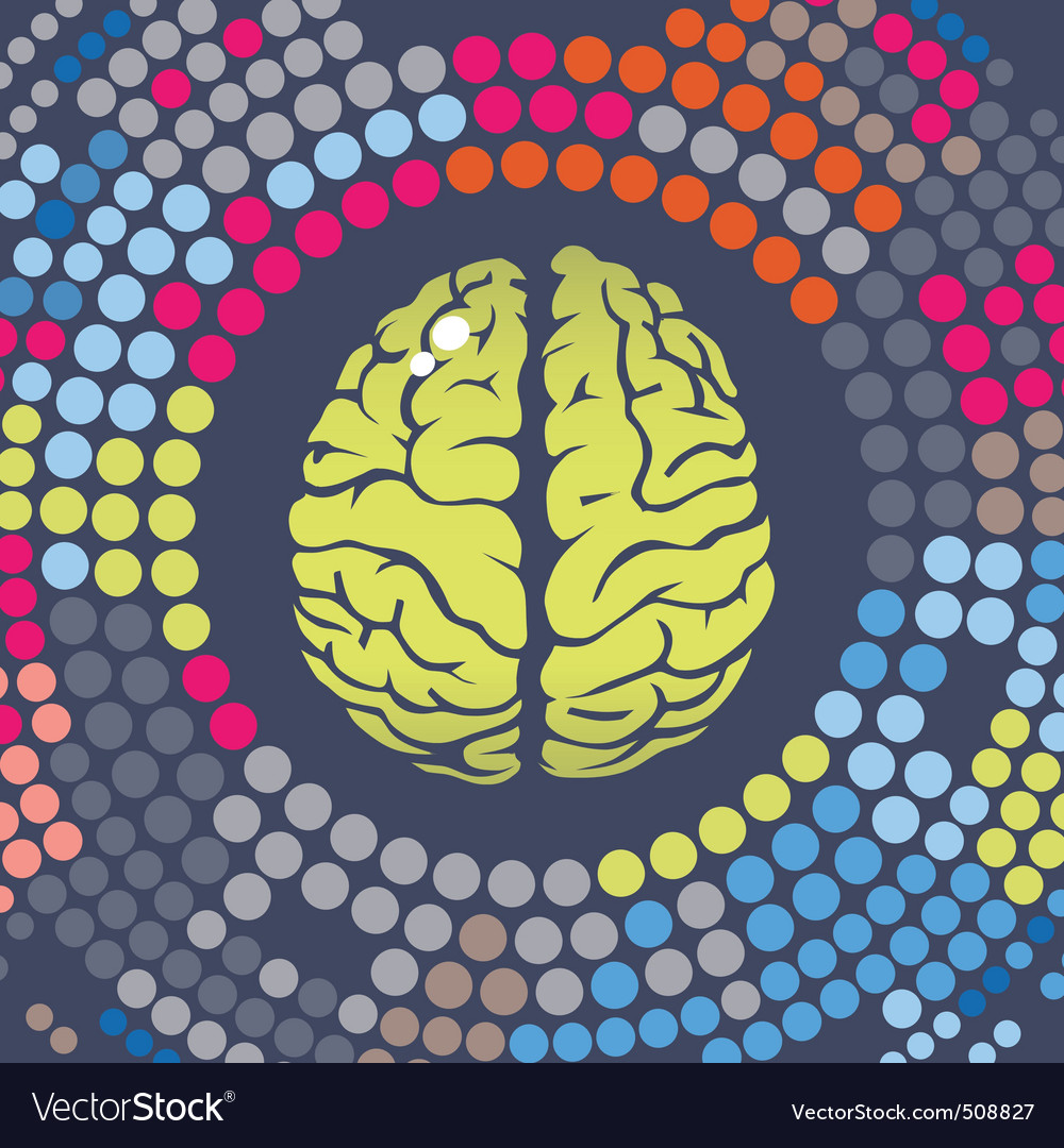 Brain summer point vector image