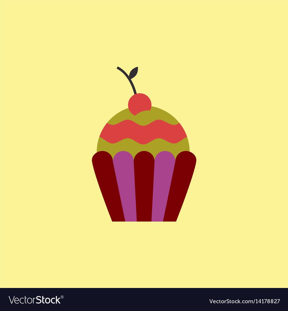 Cherry cupcake dessert