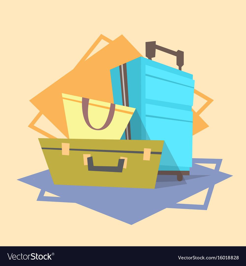 Luggage icon summer sea vacation concept vector image