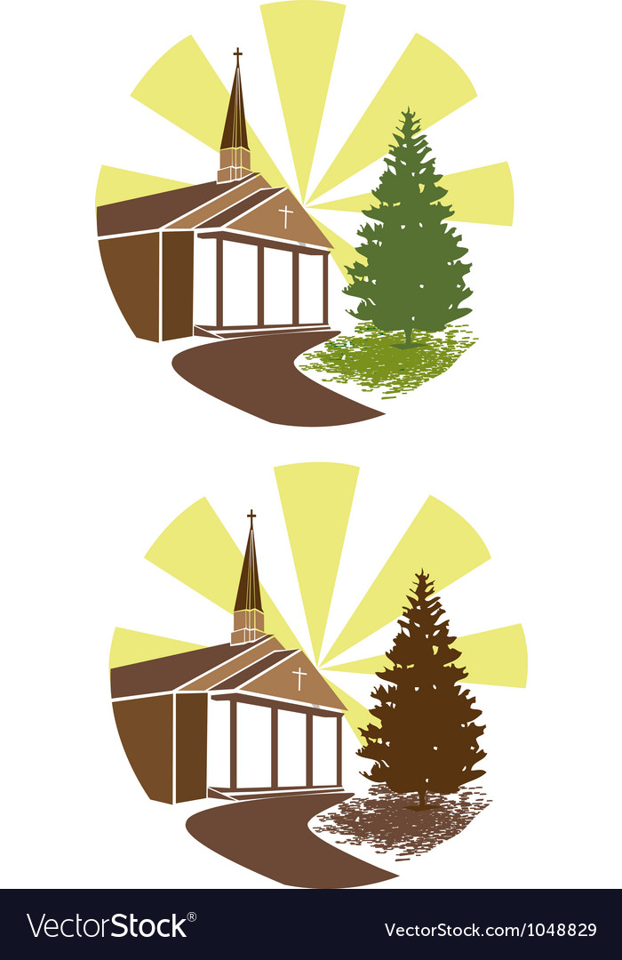 Church-design vector image