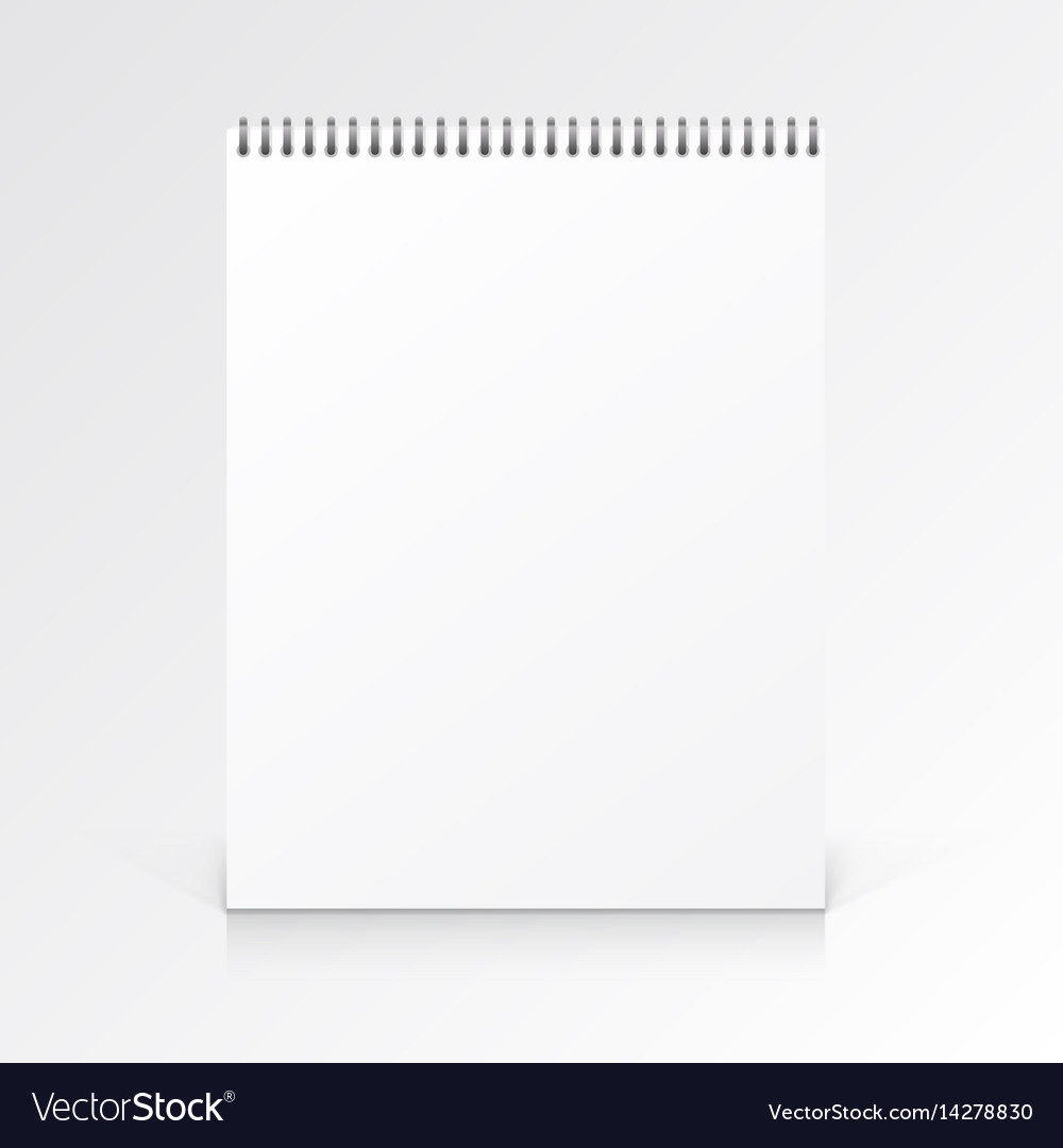 Paper notebook journal on a white background vector image