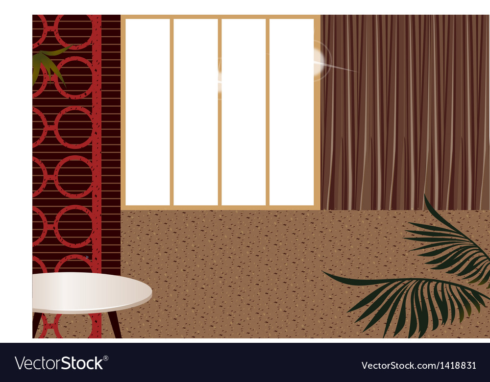 Modern home interior vector image