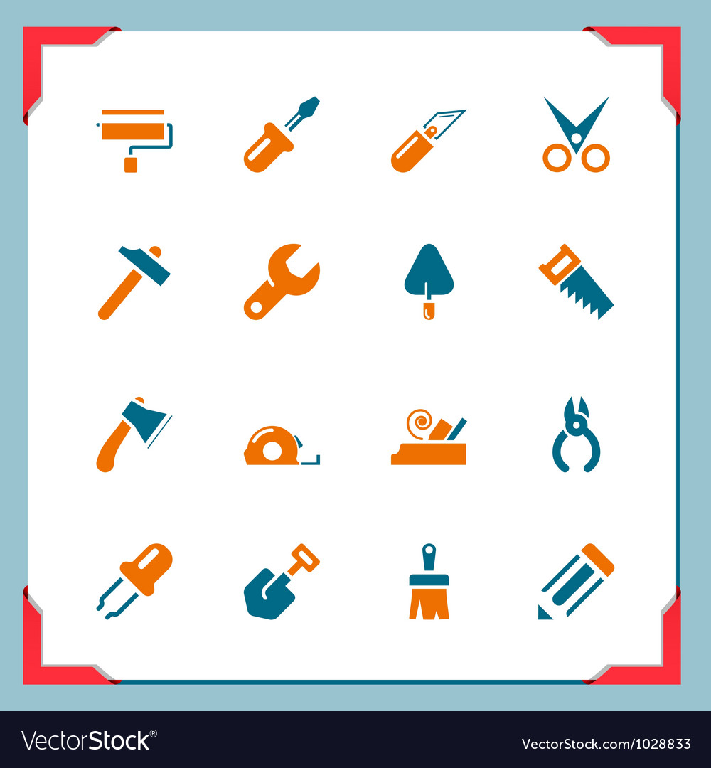 Tools In a frame series vector image