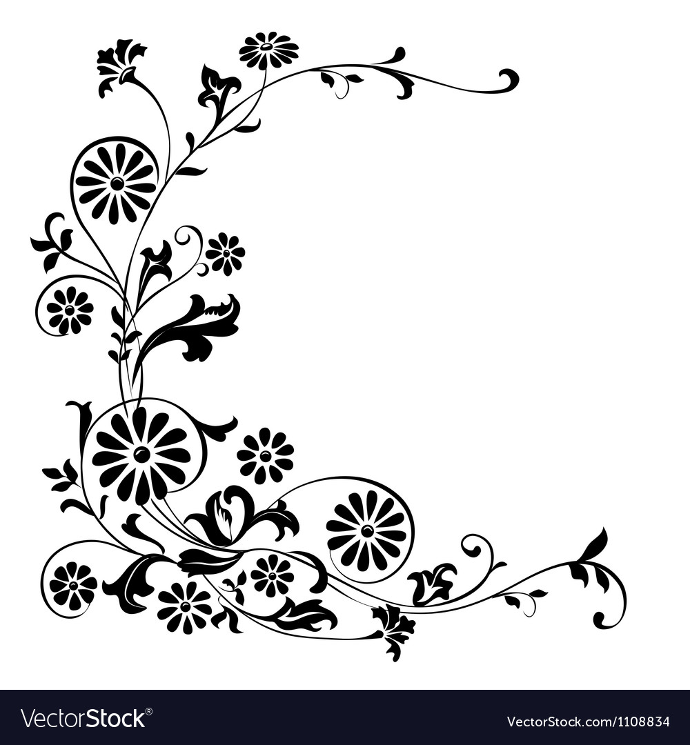 Ornament flowers vector image