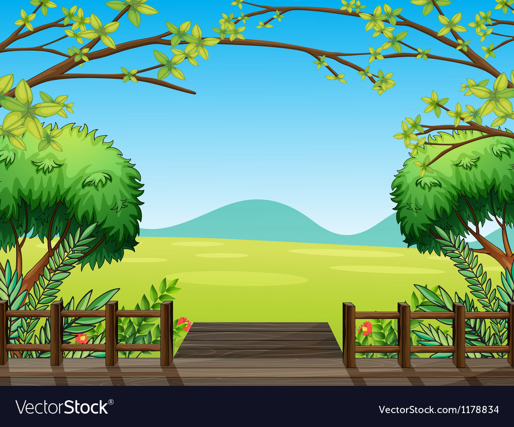 Natural view of nature vector image