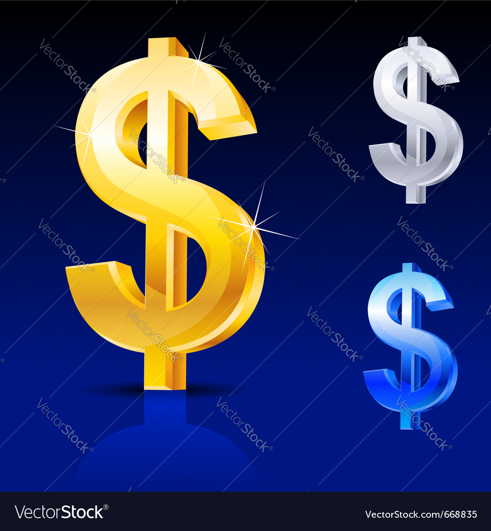 Abstract dollar sign vector image