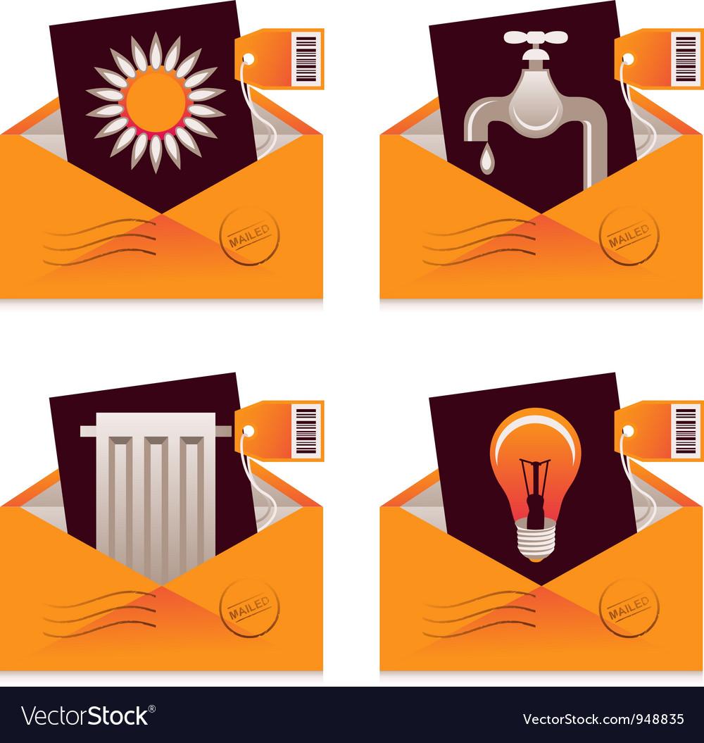 Utility Bills Vector Image