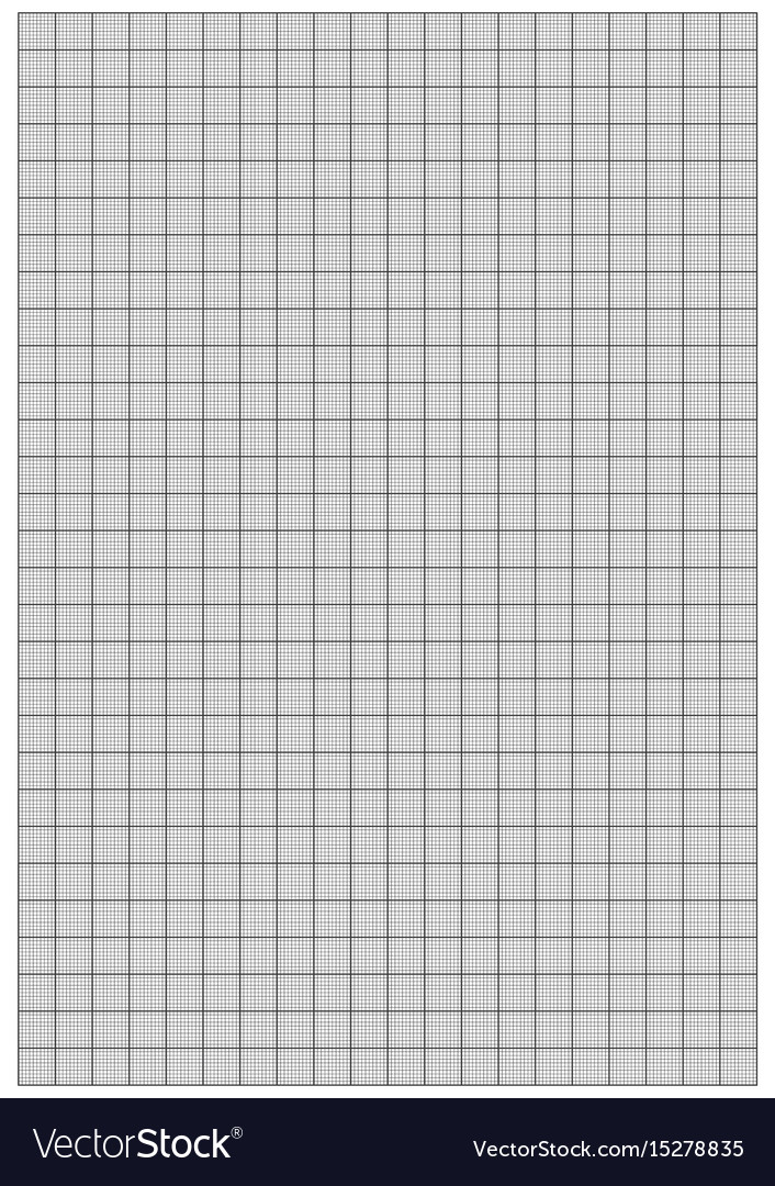 graph paper 1mm square a4 size royalty free vector image