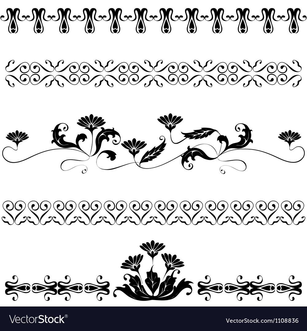 Set elements for design flowers Vector Image
