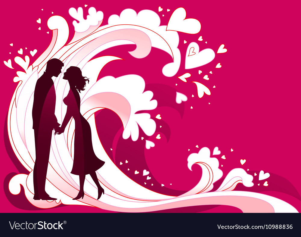 Abstract waves of passion vector image