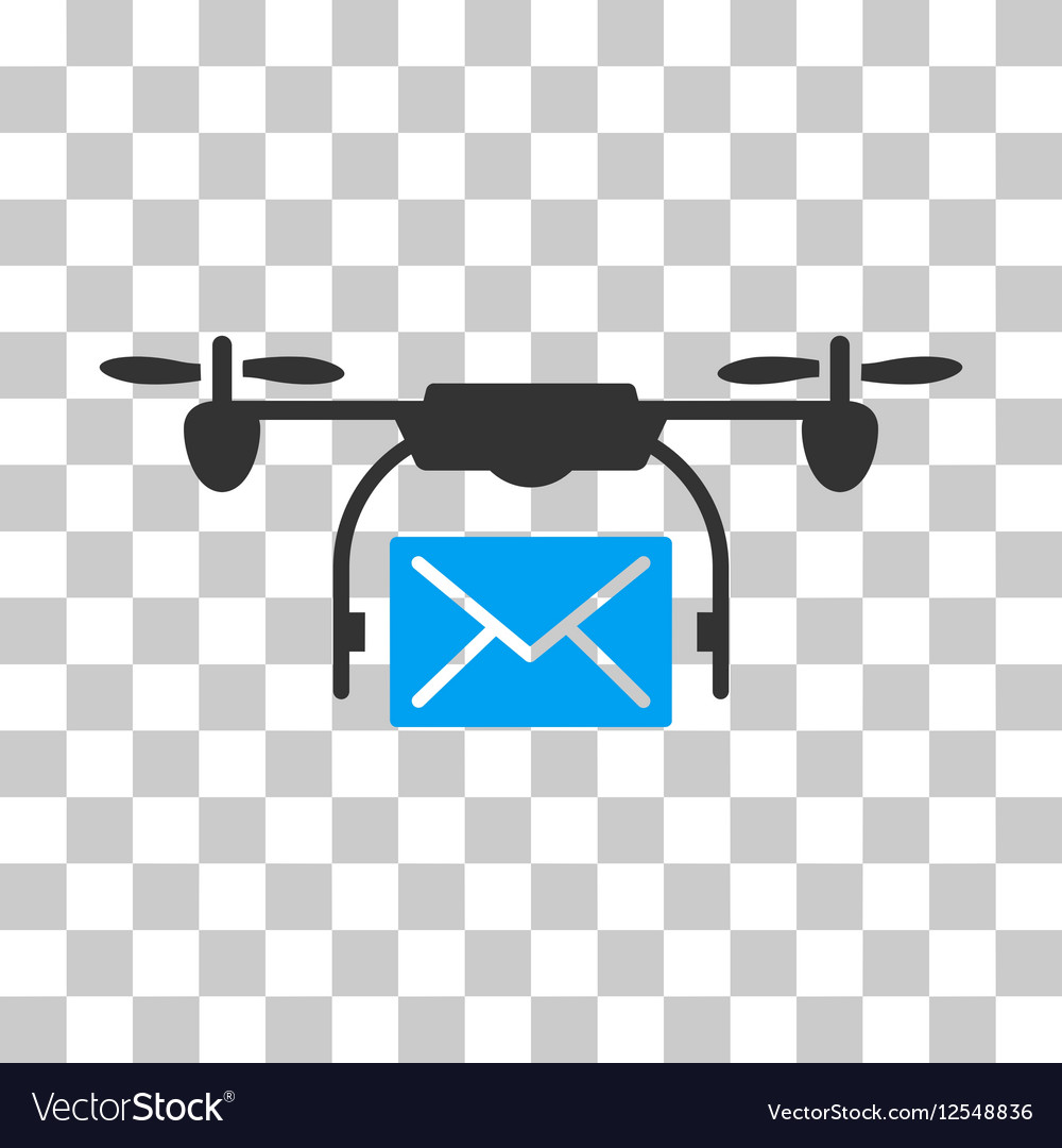 Mail Delivery Drone Icon vector image