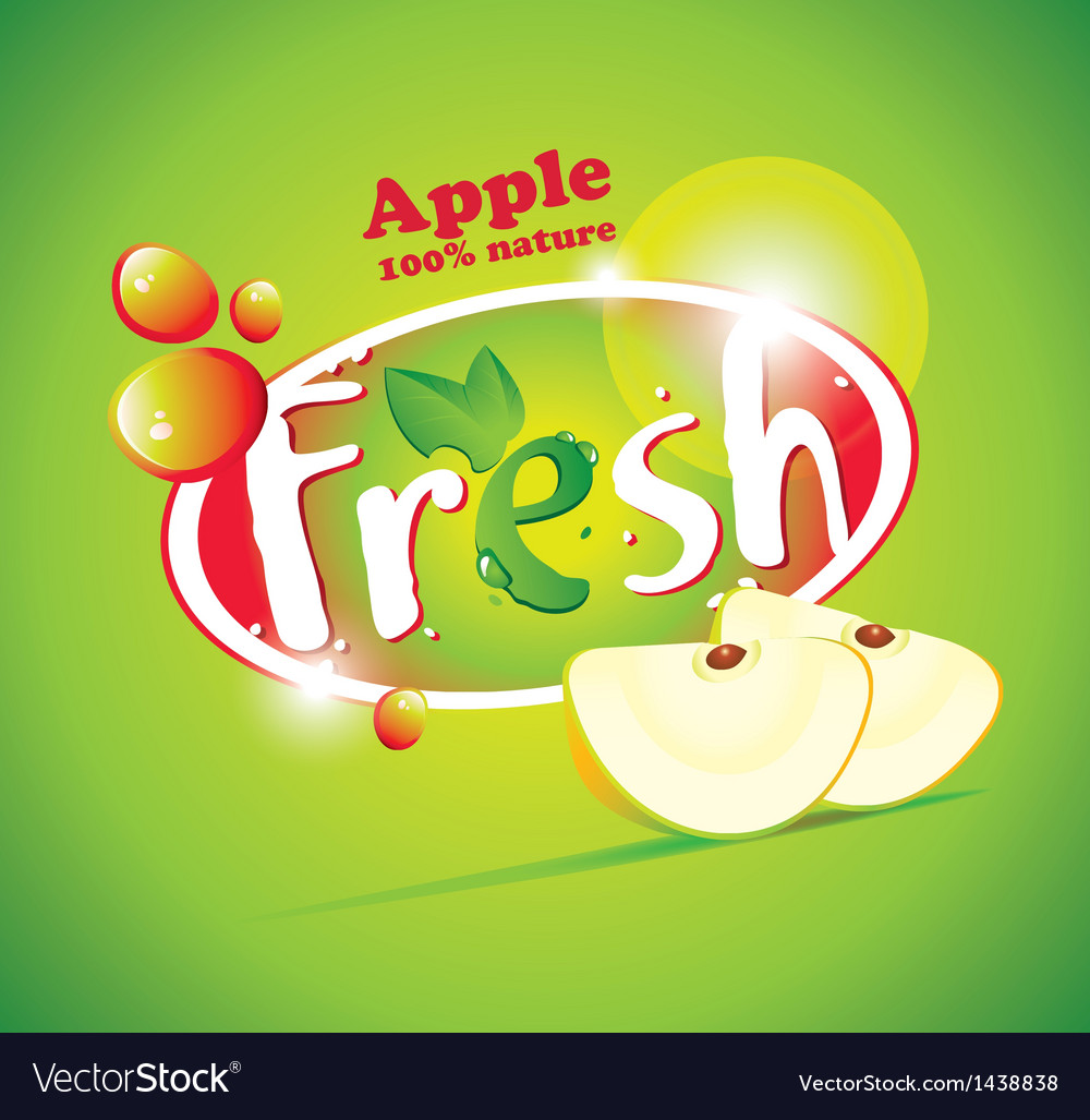 Apple Fresh Vector Image