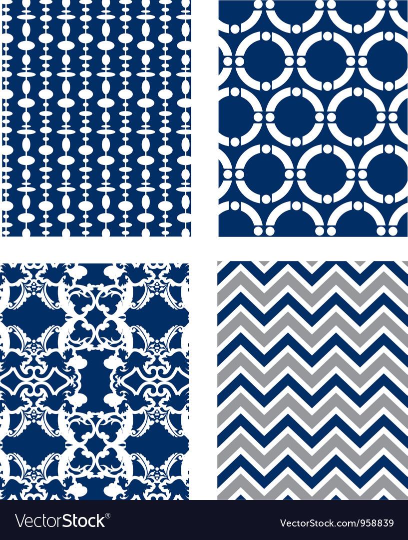 Backgrounds set Pattern Wallpaper vector image