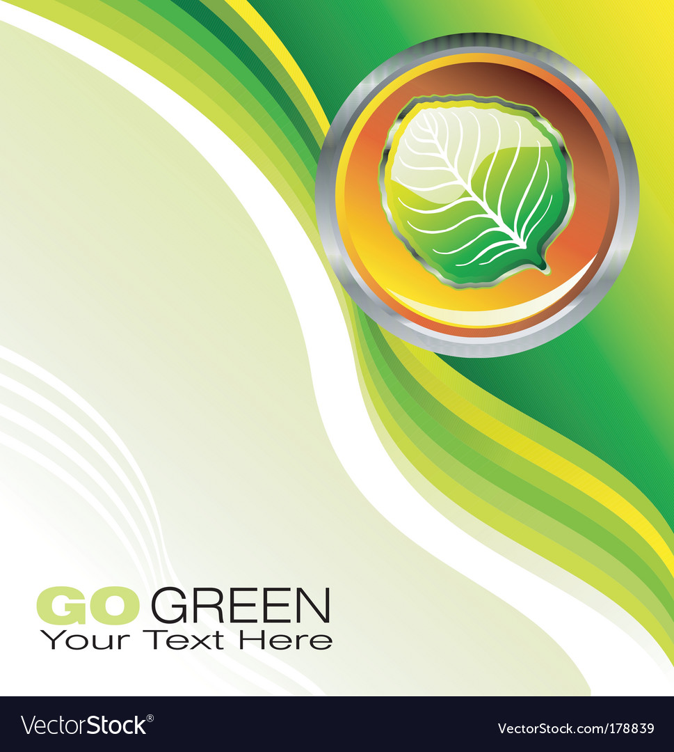 Environmental business card vector image