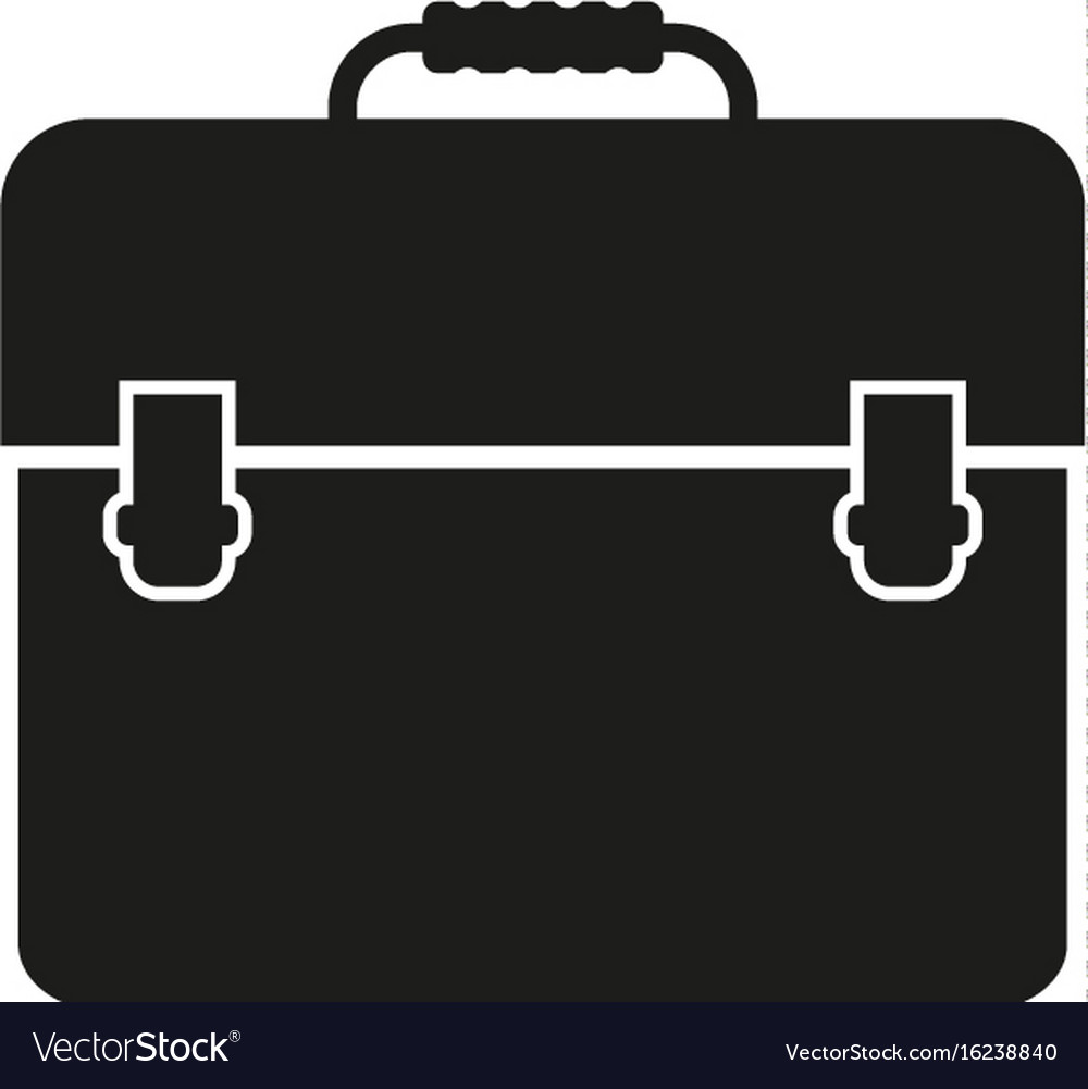 Portfolio sign black icon on vector image
