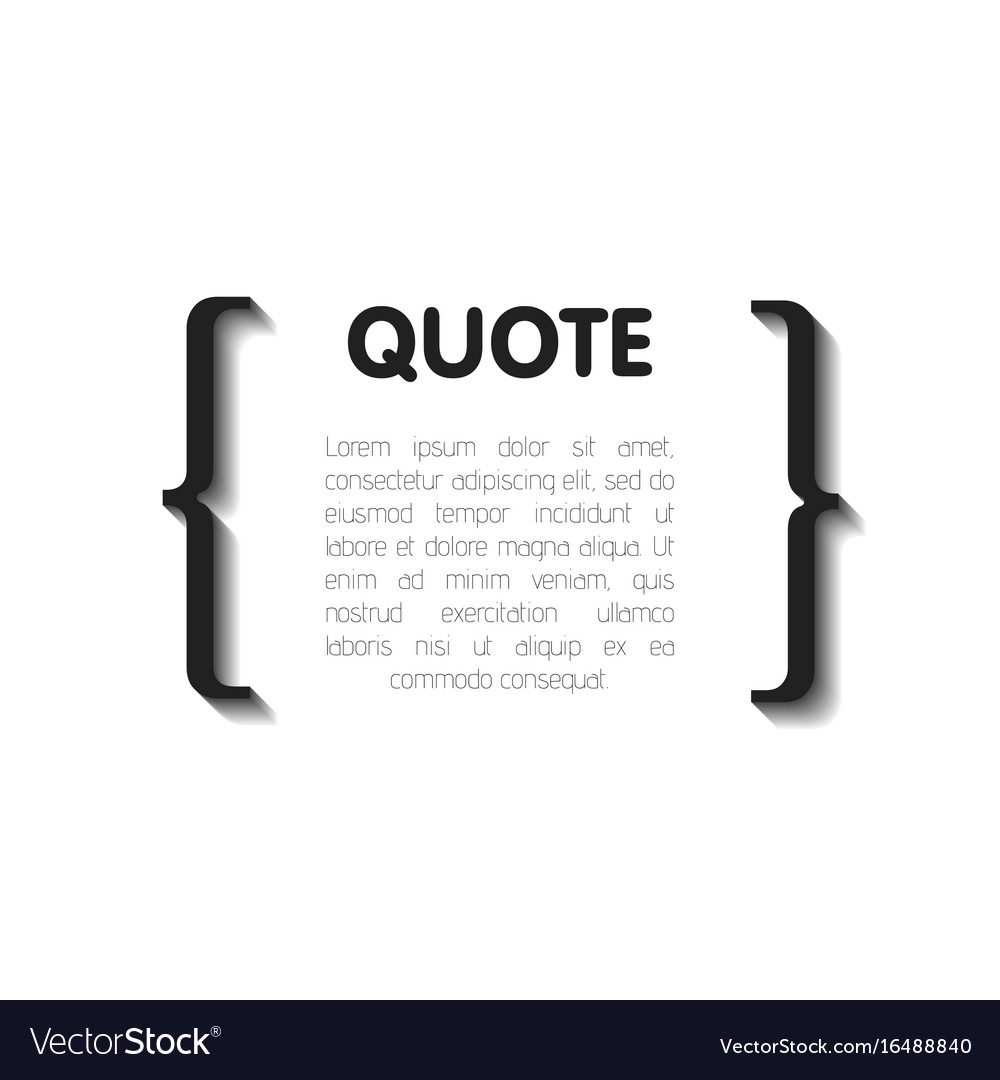 Quote Bubble Blank Templates Empty Business Card Vector Image - Blank template for business cards