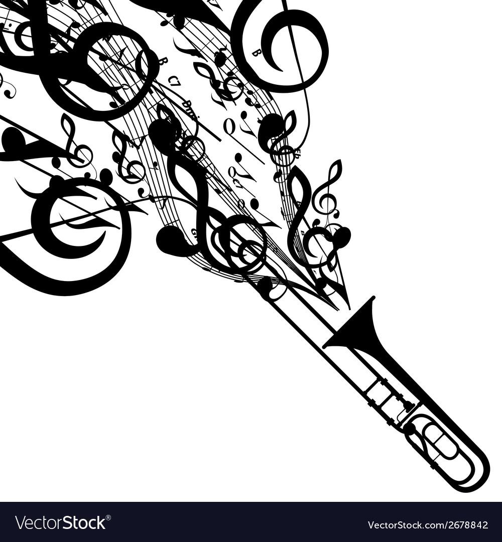 Trombone vector image