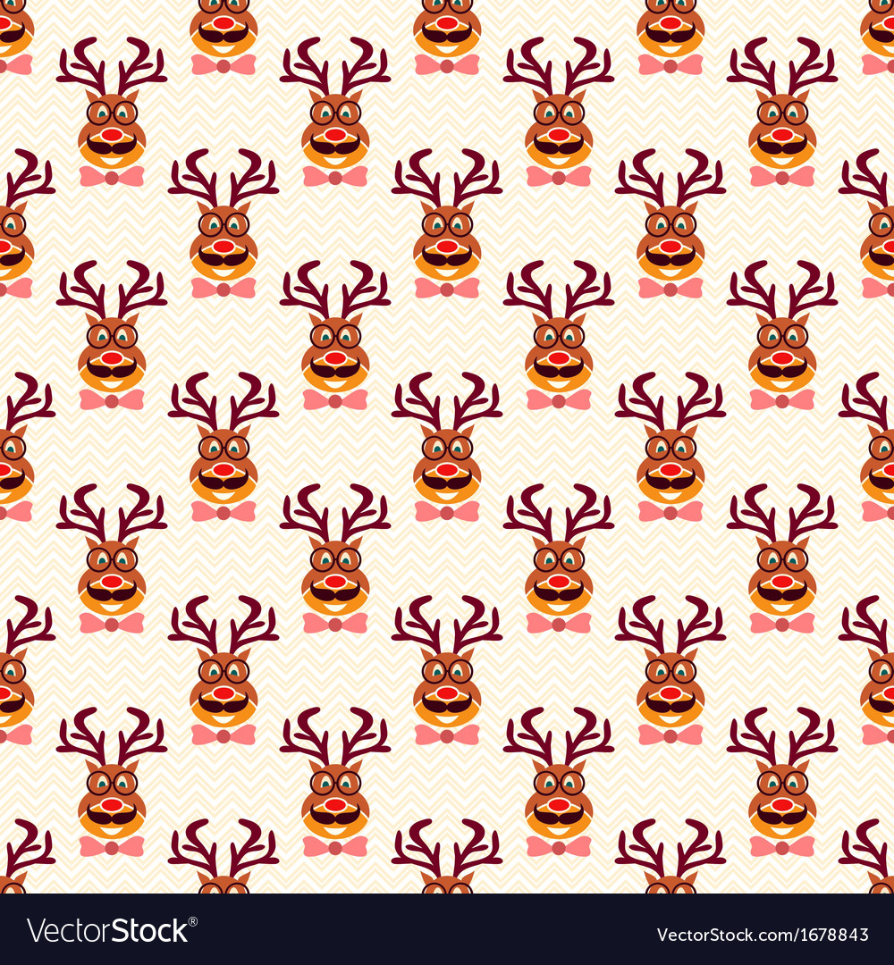 Abstract Christmas vintage funny hipster deer vector image