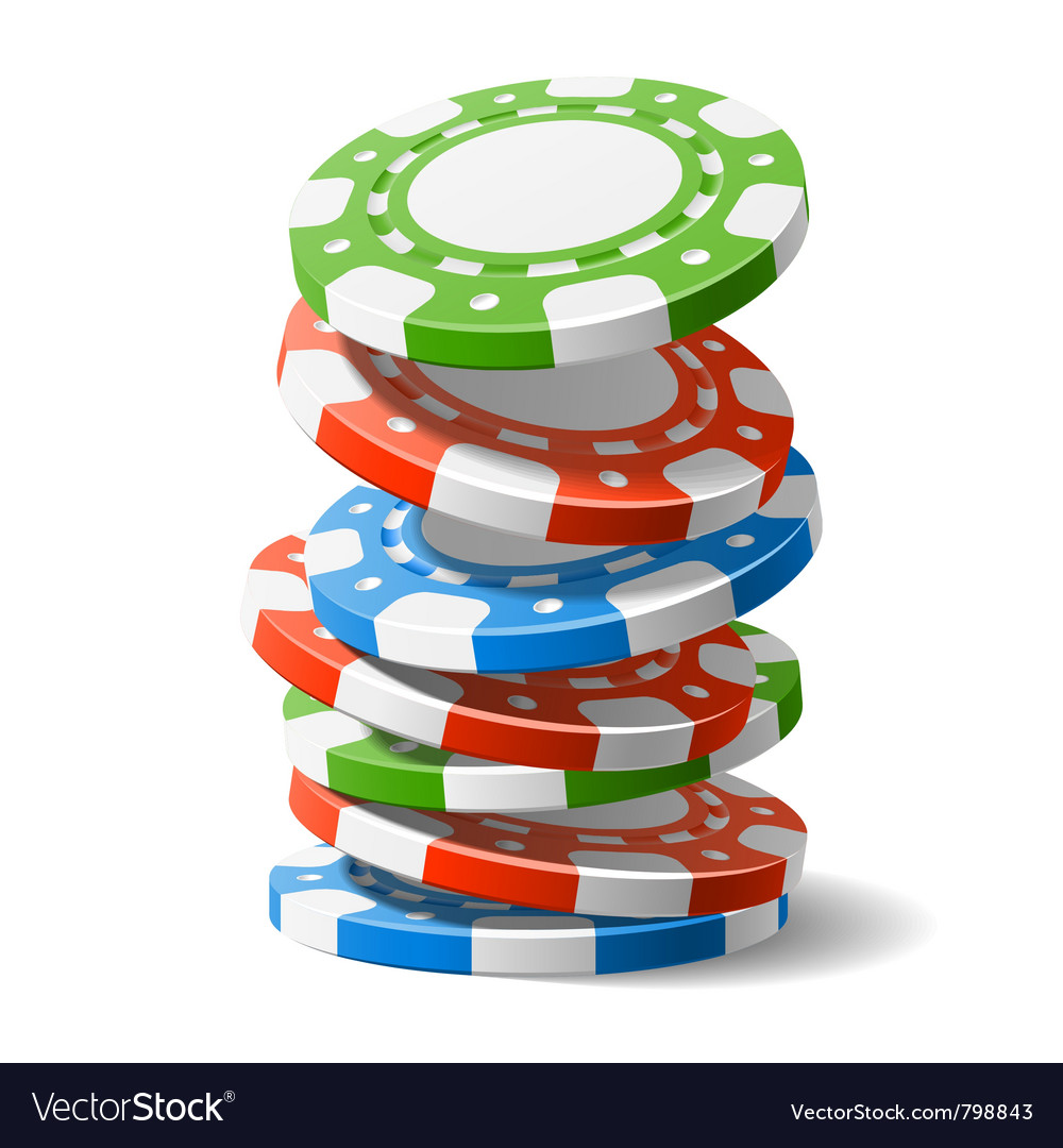 Falling casino chips vector image
