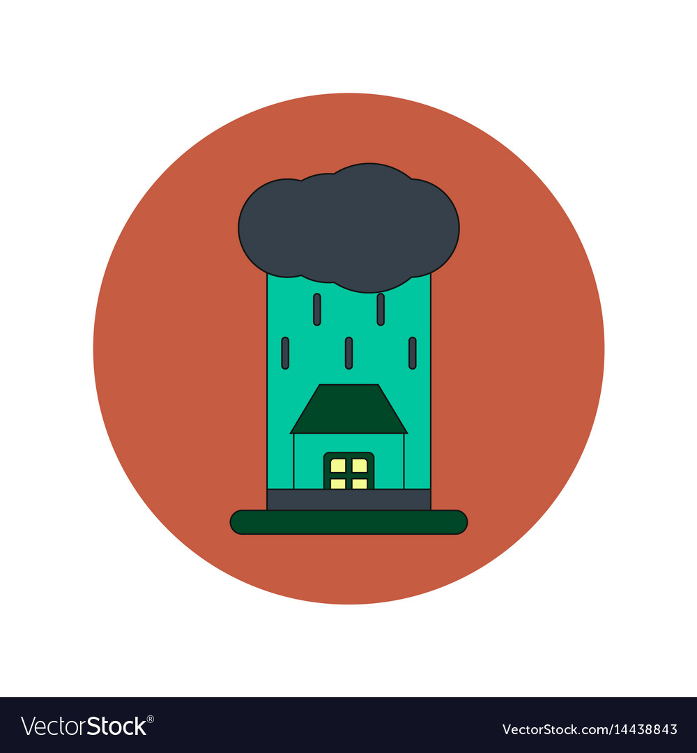 In flat design of rain cloud
