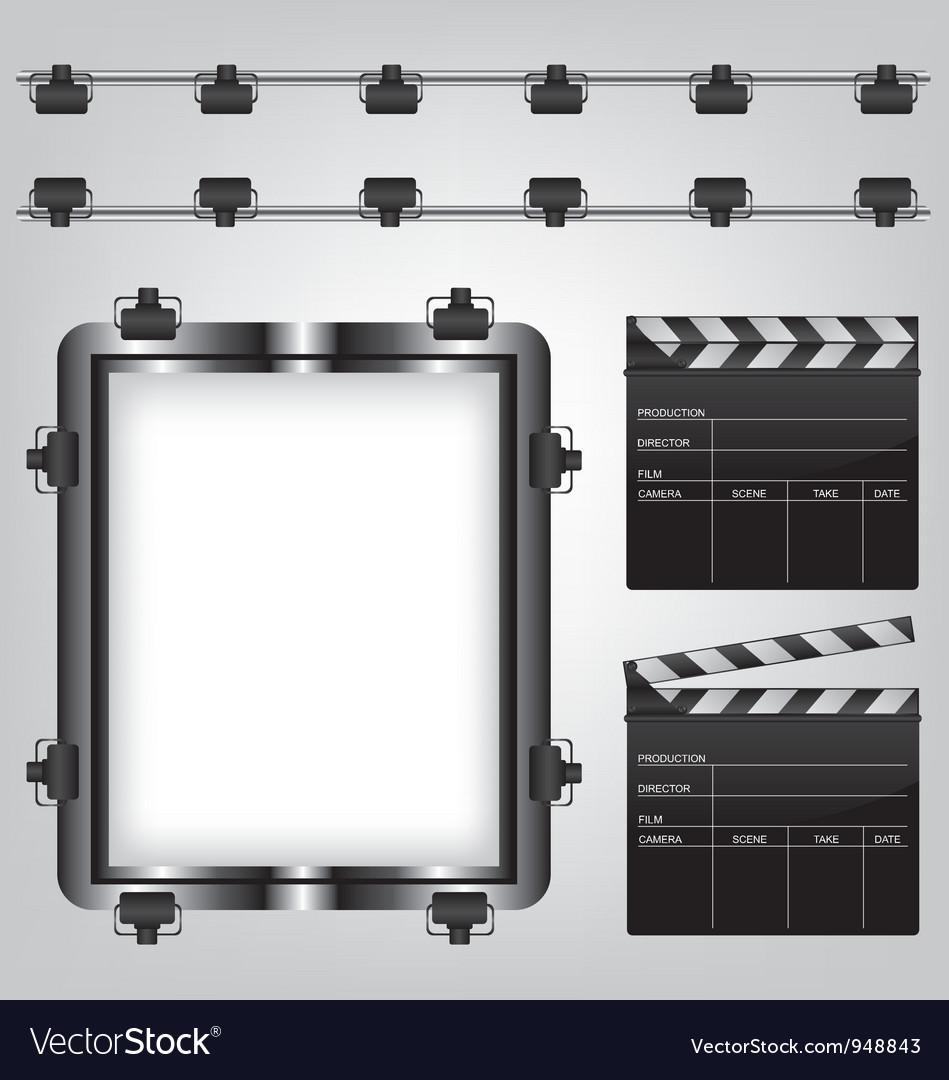 Movie equipment vector image