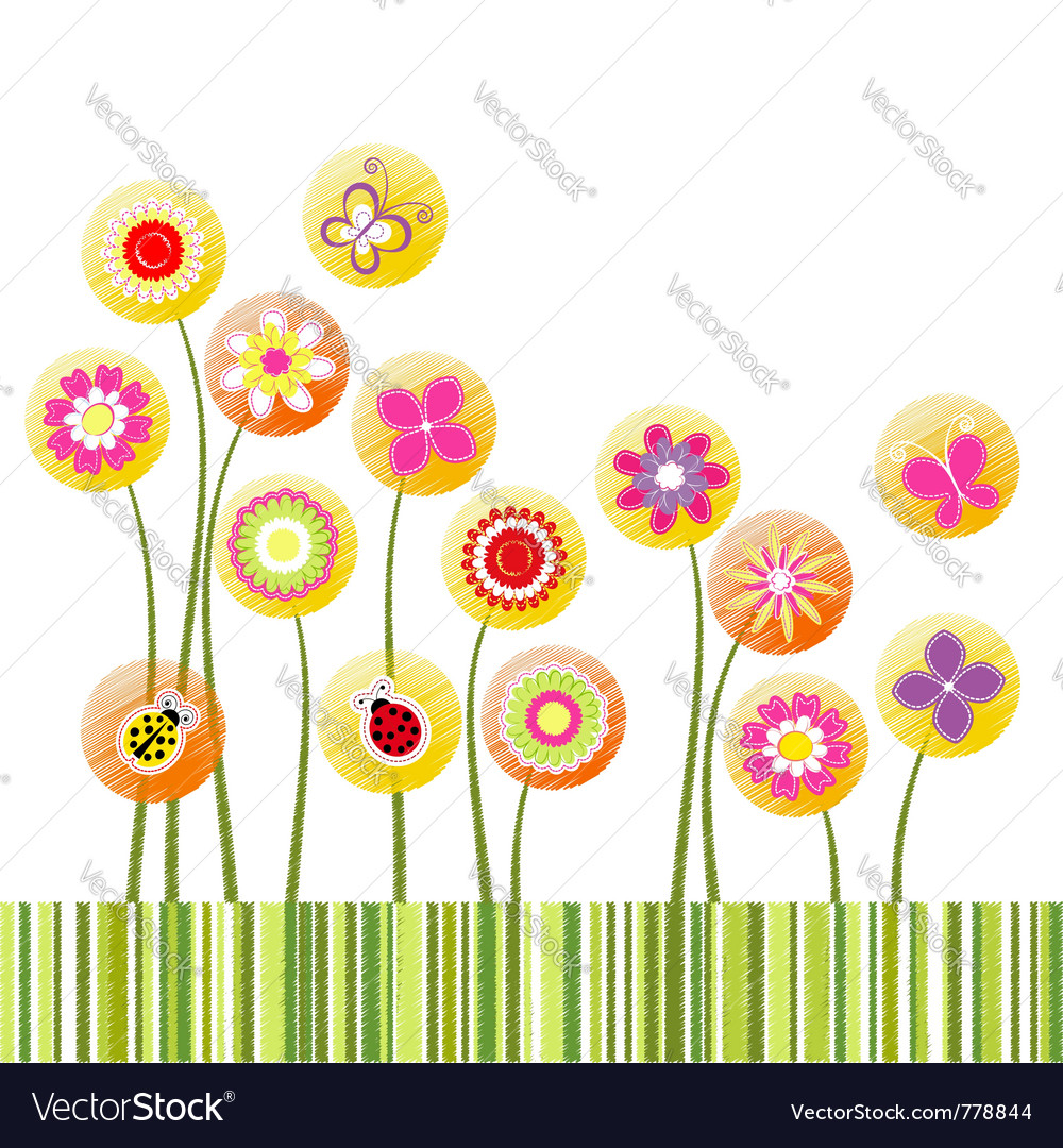 Spring time vector image