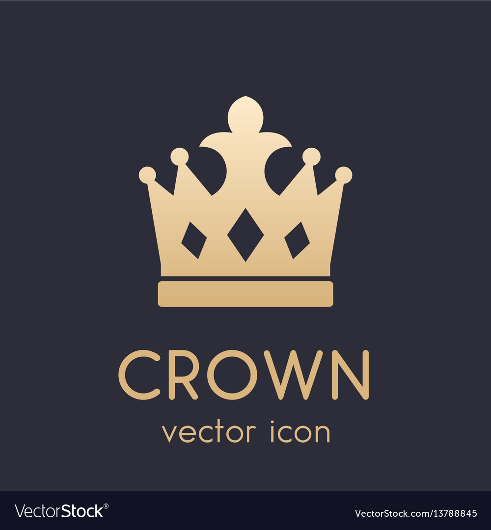 Crown logo element icon vector image