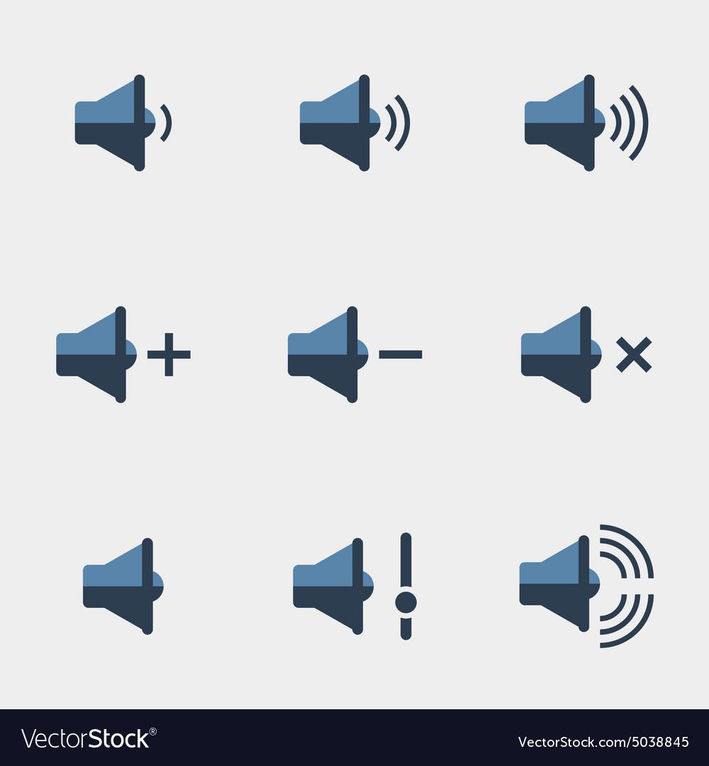 Speaker icons set vector image