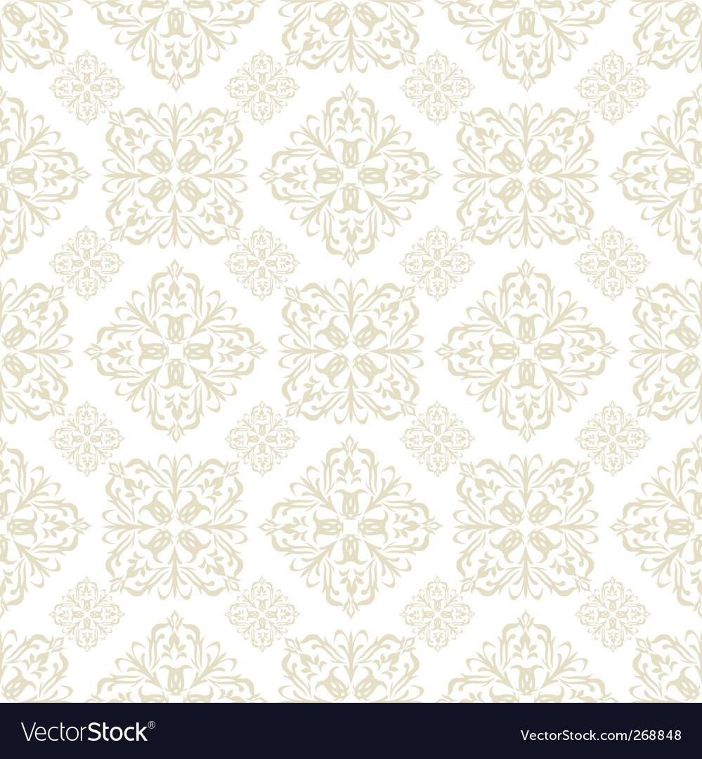 Floral wallpaper beige tile vector image