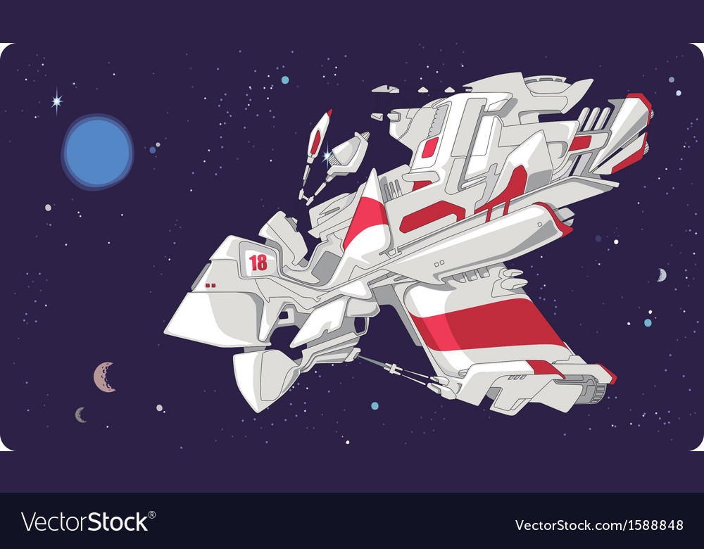 Concept of the Spacecraft vector image