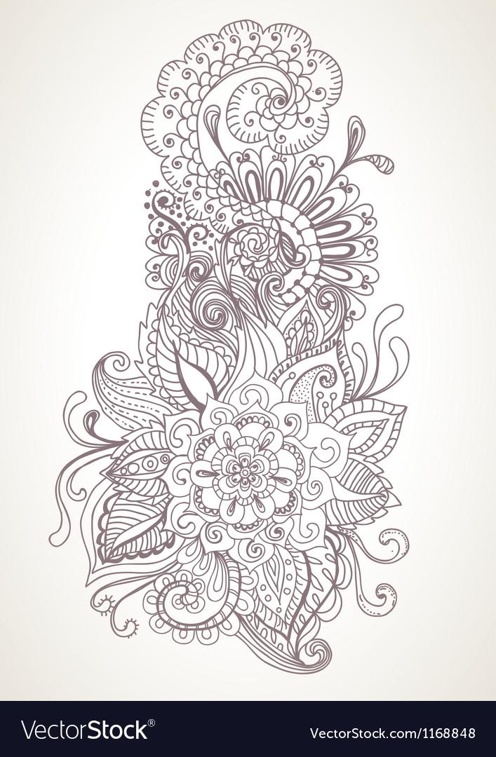 Floral orient ornament vector image