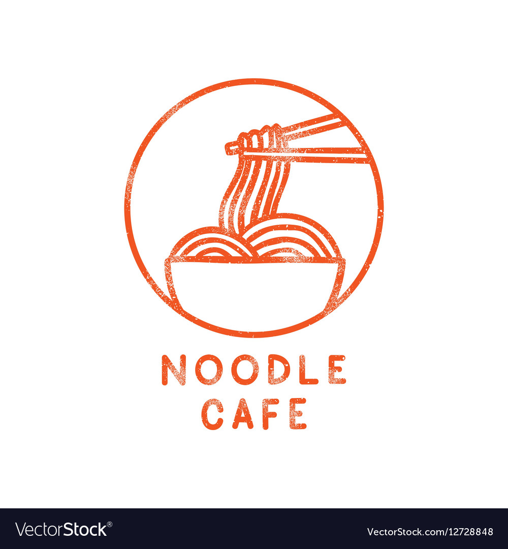 Noodle cafe logotype vector image