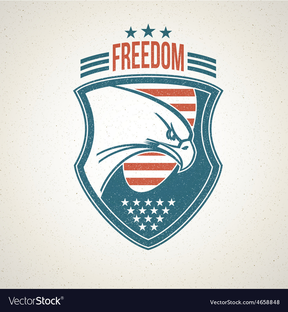 Shield logo with an american eagle symbol vector image biocorpaavc Gallery