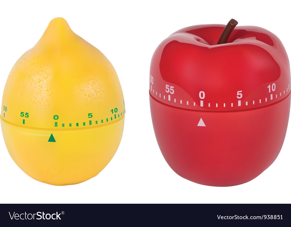 Kitchen Timers vector image