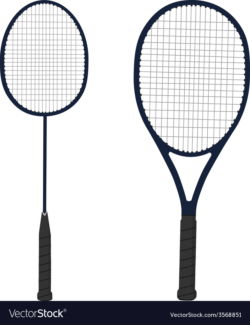 Tennis and badminton racket vector image