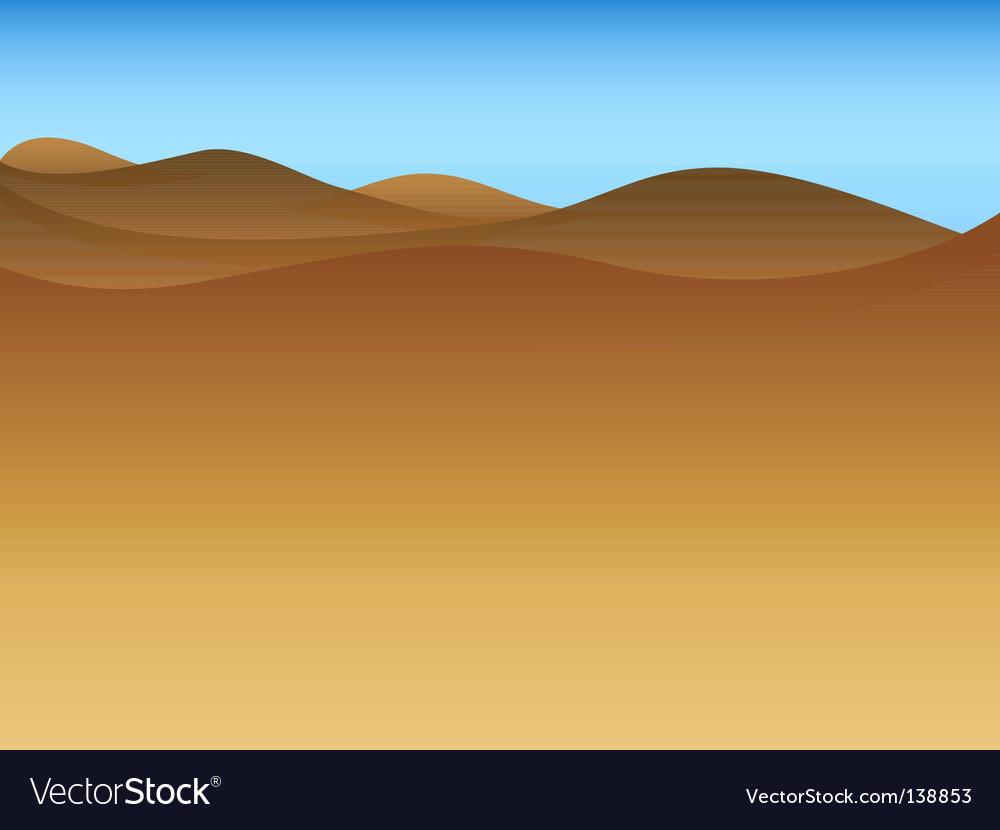 Drought landscape vector image