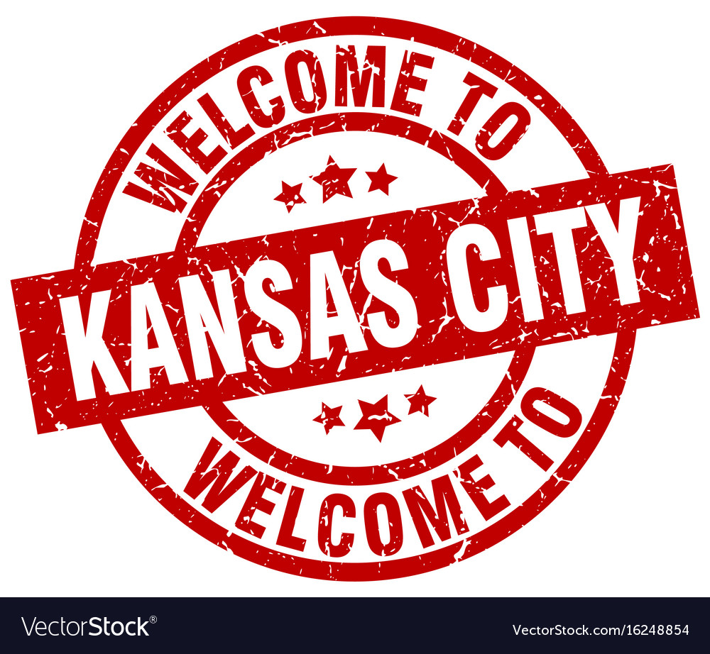 Welcome to kansas city red stamp vector image
