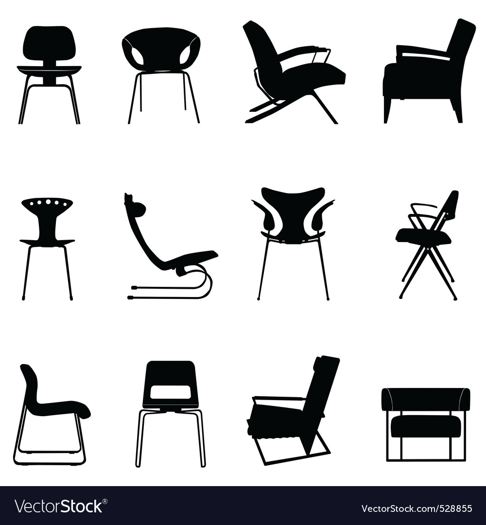 Chair set vector image