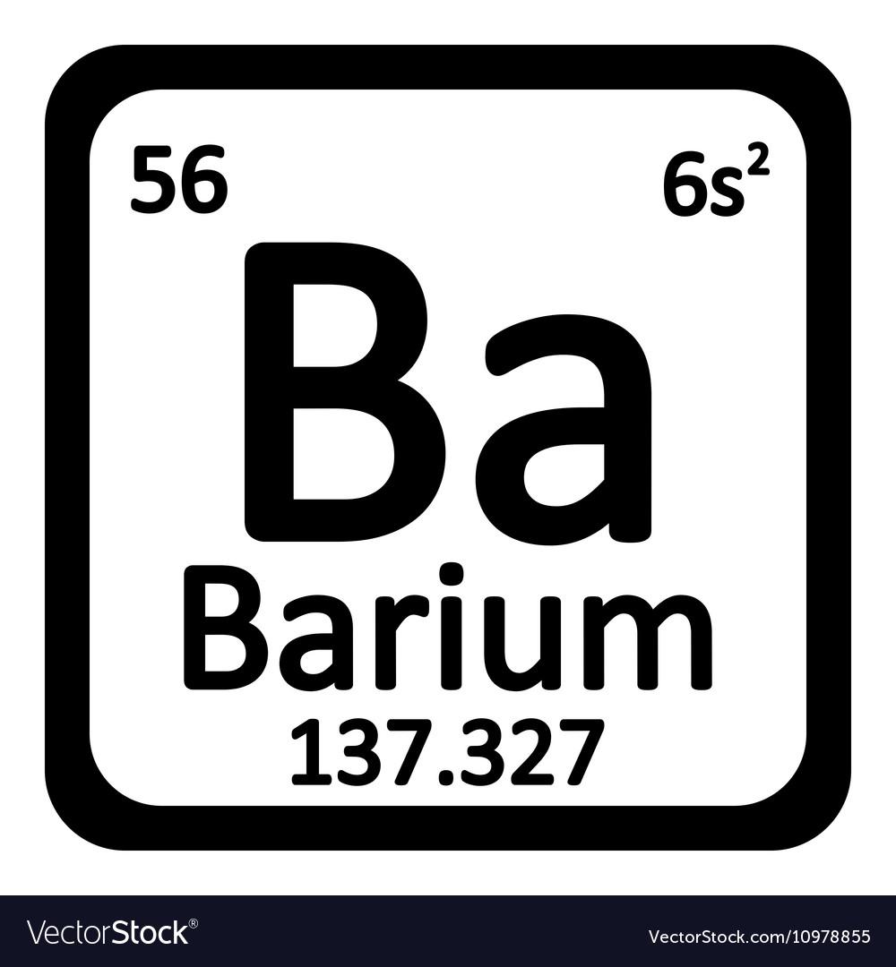 Periodic table element barium icon royalty free vector image periodic table element barium icon vector image urtaz Choice Image