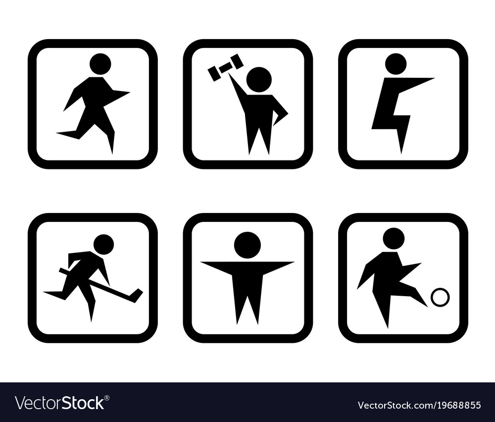 Set of sport concept symbols vector image