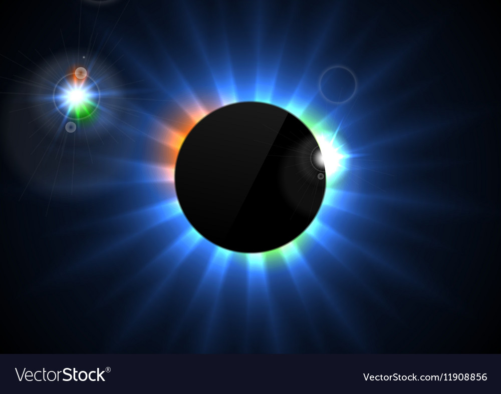 Glowing star beams abstract background vector image
